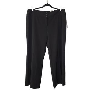 NWT Style & Co wide leg mid rise black dress pants